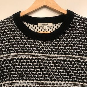 Madewell Sweaters - Madewell fineprint pullover sweater black & white